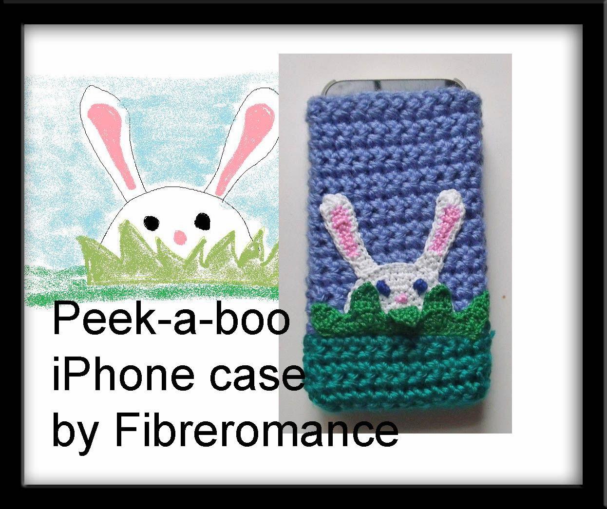 30 Stylish DIY Crochet Phone Cases --> Peekaboo Rabbit Crochet iPhone Case