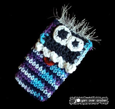 30 Stylish DIY Crochet Phone Cases --> The Music Monster iPhone Case