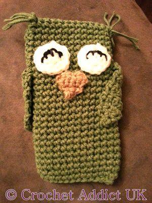 30 Stylish DIY Crochet Phone Cases --> Owl Phone Cozy