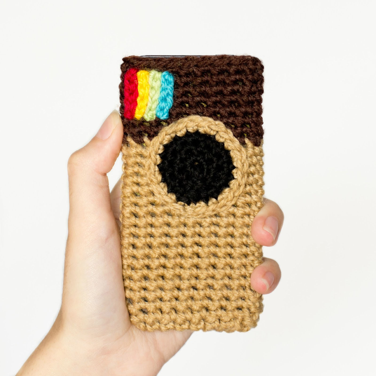 30 Stylish DIY Crochet Phone Cases --> Instagram Inspired Phone Case Crochet Pattern