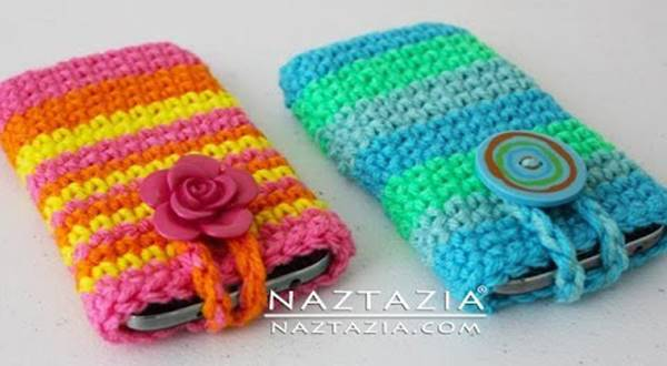 30 Stylish DIY Crochet Phone Cases --> Easy Simple Smartphone Cell Phone Case Holder