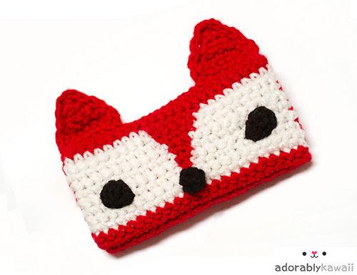 30 Stylish DIY Crochet Phone Cases --> Red Fox Phone Cozy