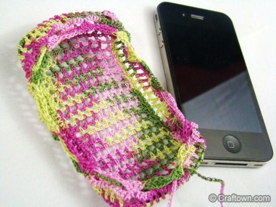 30 Stylish DIY Crochet Phone Cases --> Cell Phone Cover