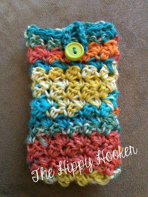 30 Stylish DIY Crochet Phone Cases --> Sock Yarn Phone Cozy