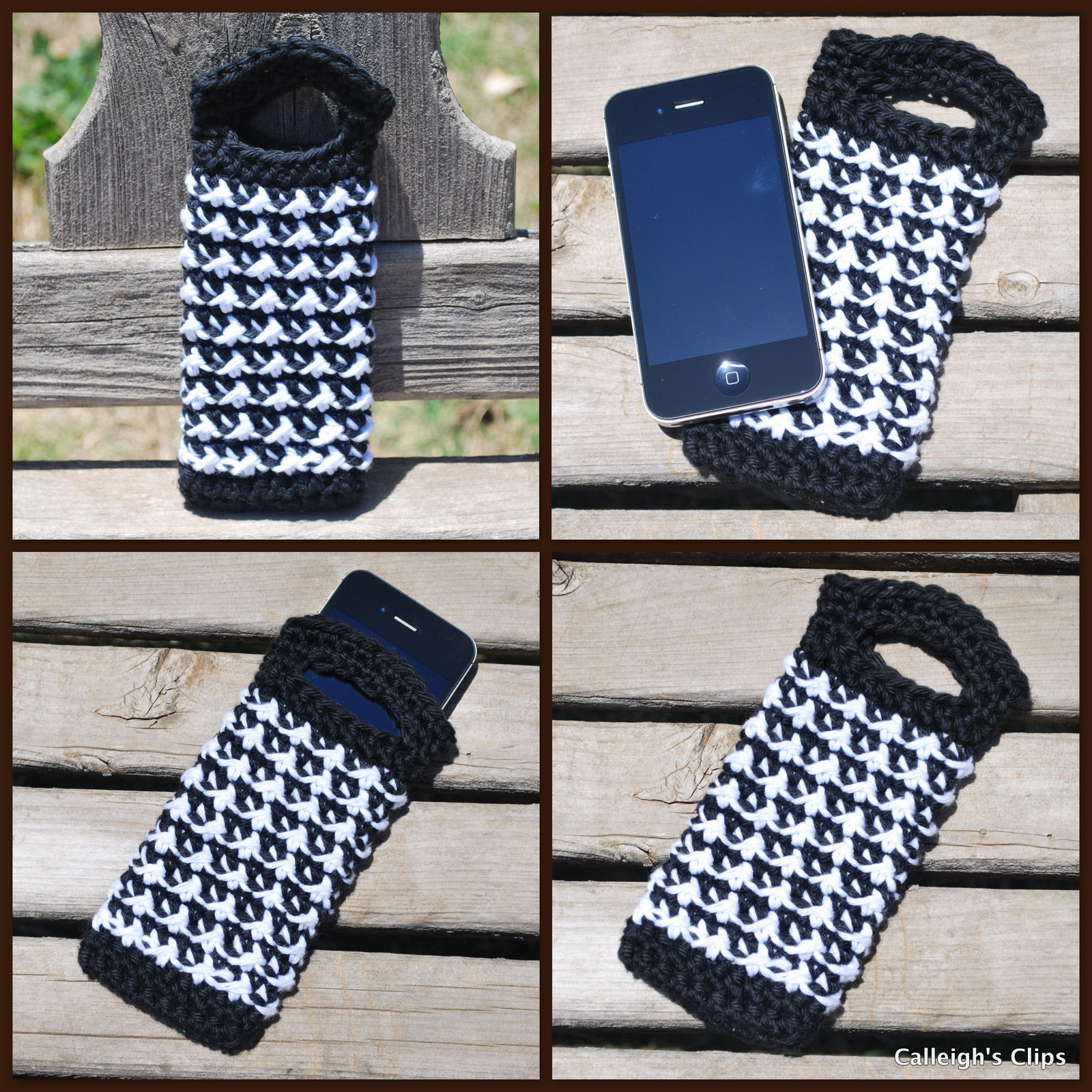 30 Stylish DIY Crochet Phone Cases --> iPhone Purse Crochet Pattern