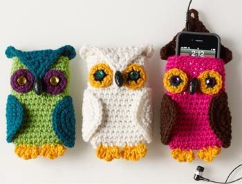 30 Stylish DIY Crochet Phone Cases --> Crochet Owl Cell Phone Cozy