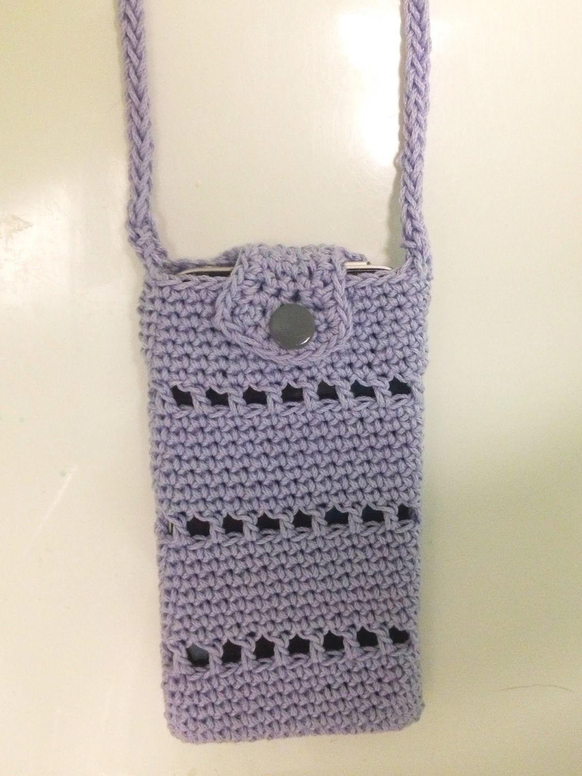 30 Stylish DIY Crochet Phone Cases --> Crochet iPhone Pouch