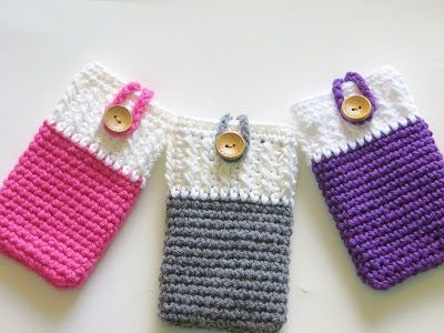 30 Stylish DIY Crochet Phone Cases --> Crochet Mobile Phone Cozy or Case