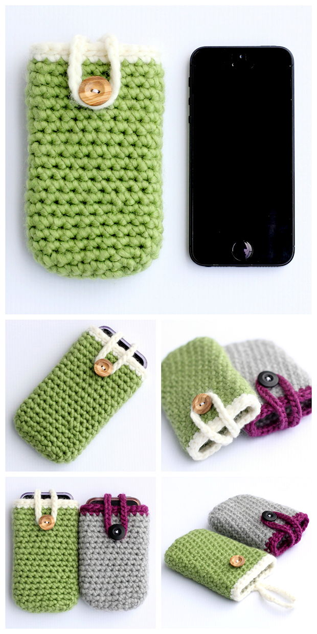 30 Stylish DIY Crochet Phone Cases --> Quick and Easy Crochet IPhone Case