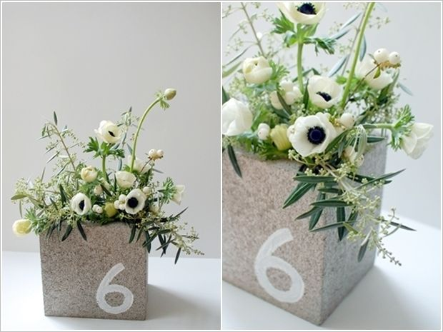 20+ Creative Uses of Concrete Blocks in Your Home and Garden --> Cinder block centerpieces