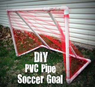 30+ Creative Uses of PVC Pipes in Your Home and Garden --> DIY PVC Pipe Soccer Goal