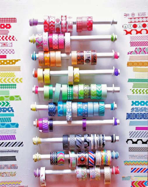 30+ Creative Uses of PVC Pipes in Your Home and Garden --> The Washi Tape holder