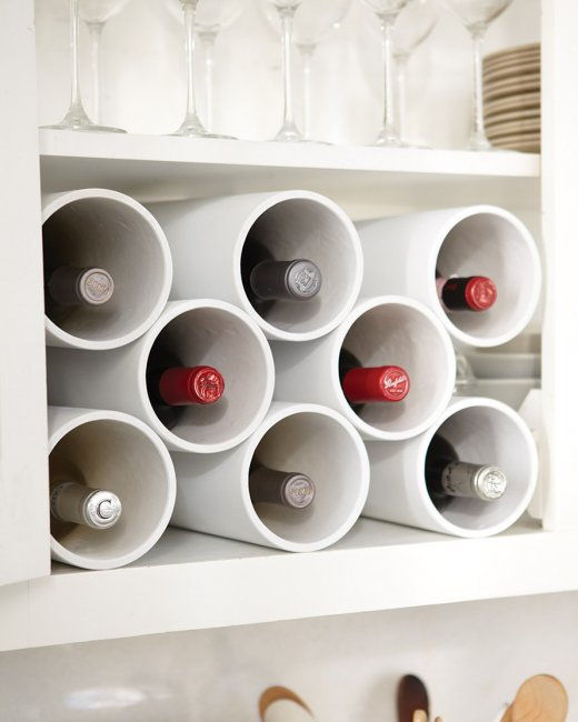 30+ Creative Uses of PVC Pipes in Your Home and Garden --> Turn PVC Pipes into a Modern Wine Rack