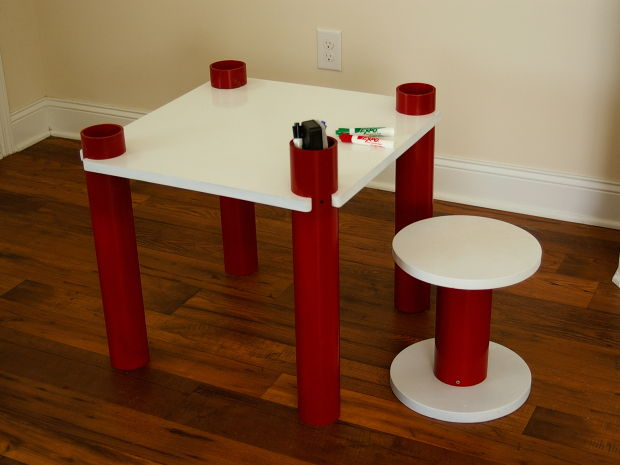 30+ Creative Uses of PVC Pipes in Your Home and Garden --> PVC Kids' Table and Stool