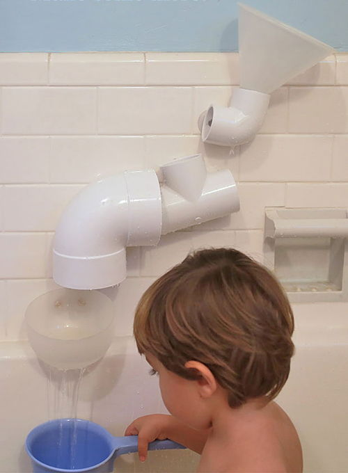 30+ Creative Uses of PVC Pipes in Your Home and Garden --> DIY PVC Bath Toys
