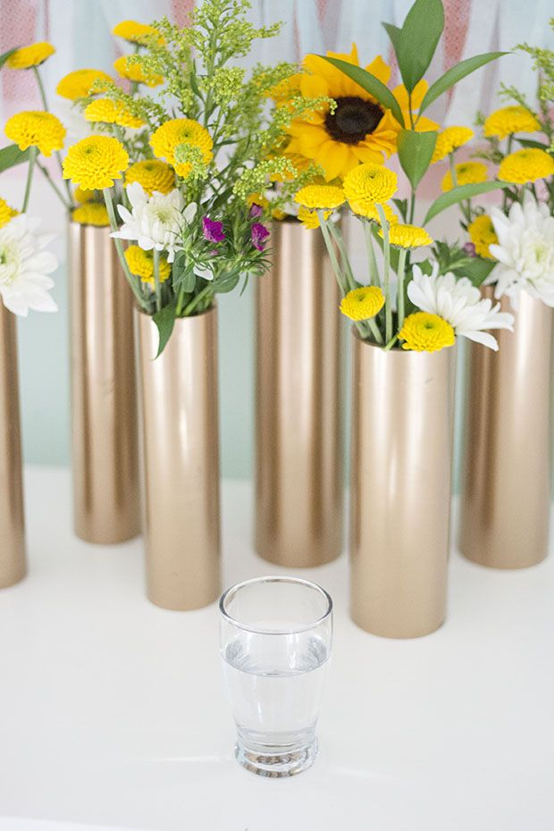 30+ Creative Uses of PVC Pipes in Your Home and Garden --> PVC Vase and Centerpiece
