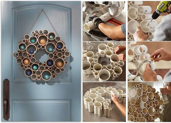 30+ Creative Uses of PVC Pipes in Your Home and Garden --> Craft A Festive Holiday Wreath