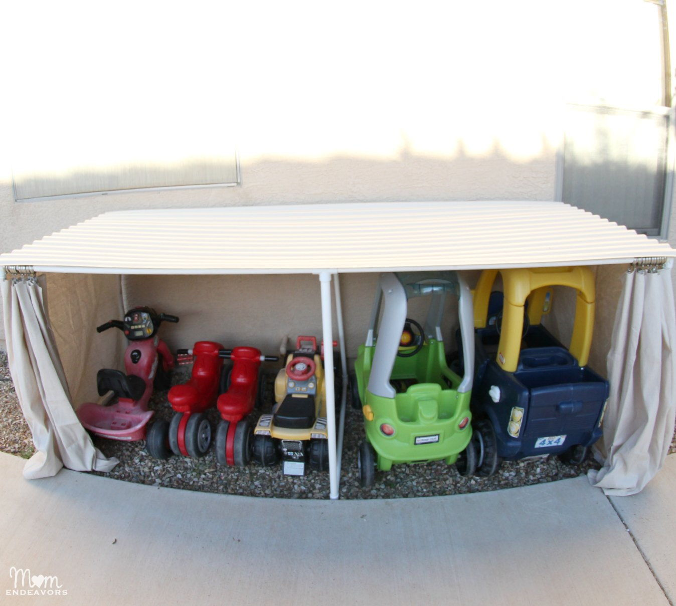 30+ Creative Uses of PVC Pipes in Your Home and Garden --> PVC Kids Car Garage