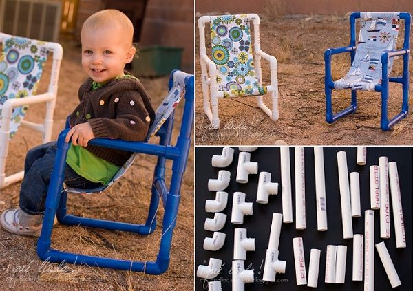 30+ Creative Uses of PVC Pipes in Your Home and Garden --> DIY PVC Toddler Chairs