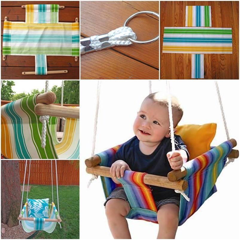 Creative Ideas - DIY Canvas Hammock Style Baby Swing