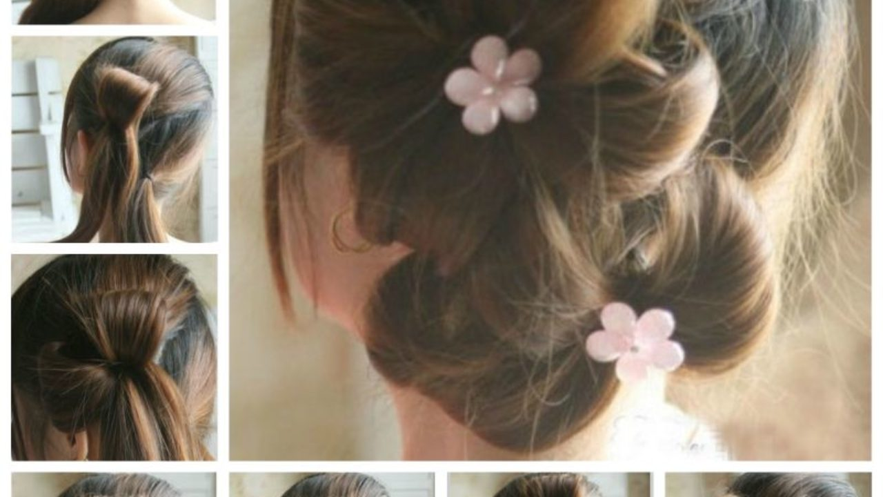 Admirable Creative Ideas Diy Chic Flower Petal Updo Hairstyle Natural Hairstyles Runnerswayorg