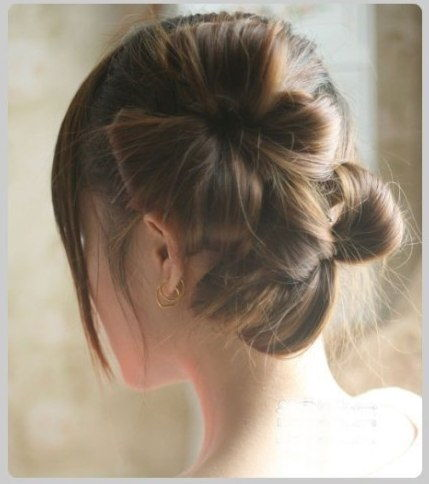 Creative Ideas - DIY Chic Flower Petal Updo Hairstyle 6