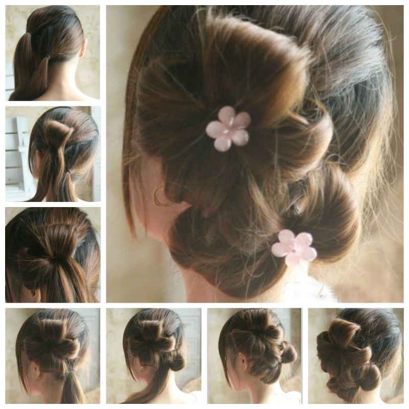 Creative Ideas - DIY Chic Flower Petal Updo Hairstyle