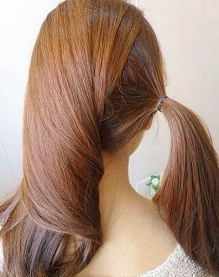 Creative Ideas - DIY Easy Twisted Side Ponytail Hairstyle 2