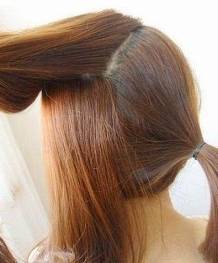 Creative Ideas - DIY Easy Twisted Side Ponytail Hairstyle 3