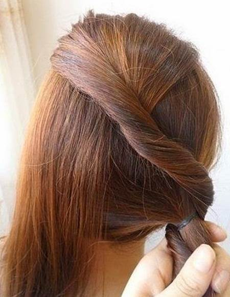 Creative Ideas - DIY Easy Twisted Side Ponytail Hairstyle 4