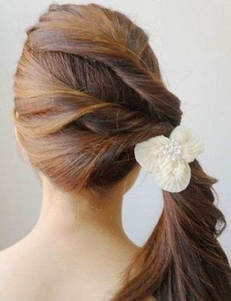 Creative Ideas - DIY Easy Twisted Side Ponytail Hairstyle 7