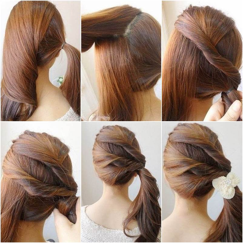 Pleasant Creative Ideas Diy Easy Twisted Side Ponytail Hairstyle Natural Hairstyles Runnerswayorg