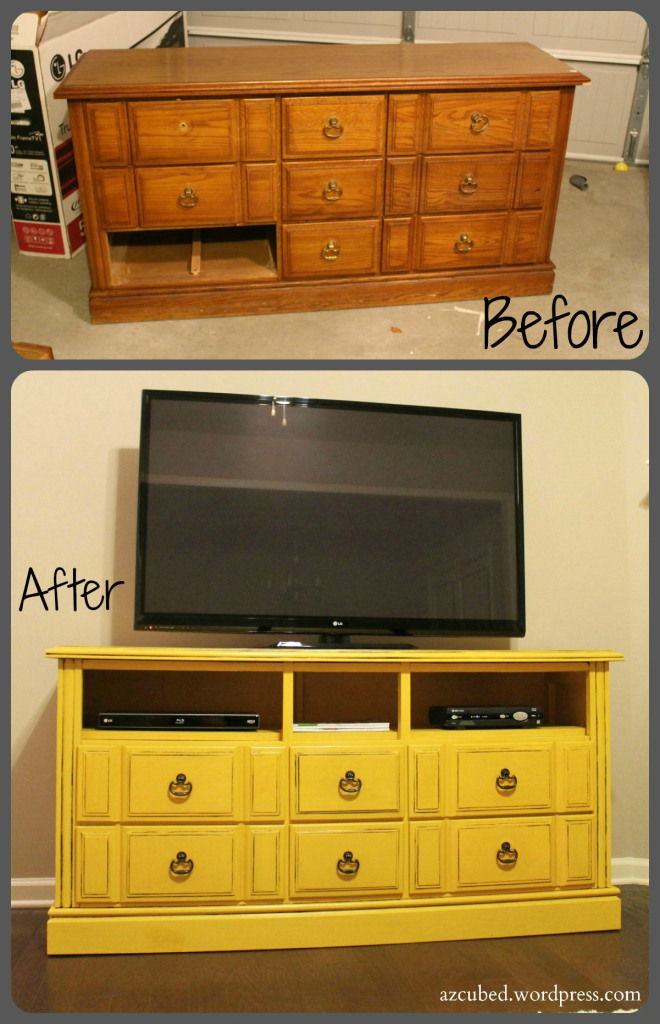 20+ Creative Ideas and DIY Projects to Repurpose Old Furniture --> DIY Dresser turned TV Console