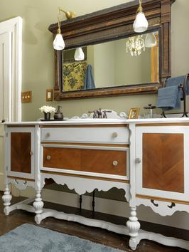 20+ Creative Ideas and DIY Projects to Repurpose Old Furniture --> Turn a Dresser Into a Bathroom Vanity