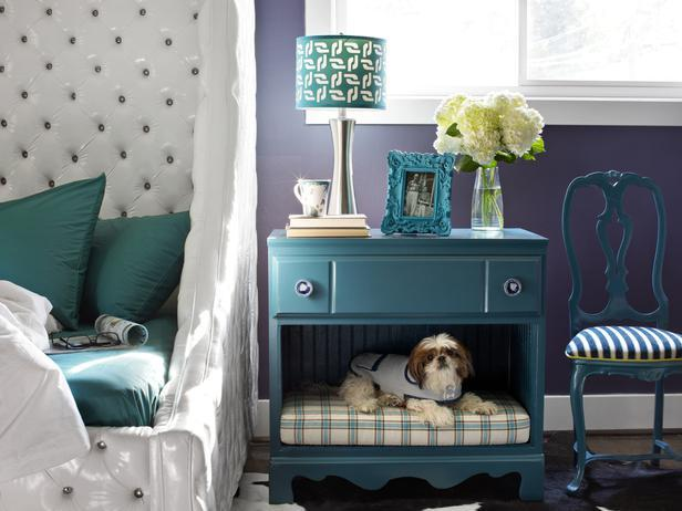 20+ Creative Ideas and DIY Projects to Repurpose Old Furniture --> Turn a Dresser Into a Pet Bed and Nightstand