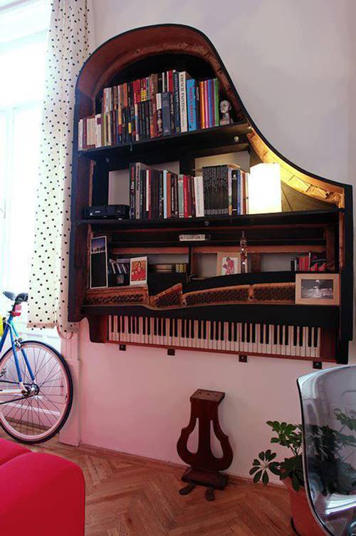 furniture repurpose ideas. 20+ Creative Ideas And DIY Projects To Repurpose Old Furniture --\u003e Grand Piano
