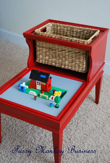 20+ Creative Ideas and DIY Projects to Repurpose Old Furniture --> LEGO Table