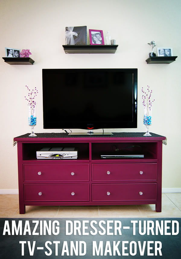 20+ Creative Ideas and DIY Projects to Repurpose Old Furniture --> Amazing Dresser-Turned-TV-Stand Makeover