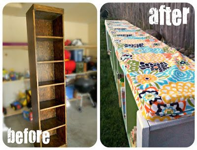 20+ Creative Ideas and DIY Projects to Repurpose Old Furniture --> Padded Bench Tutorial