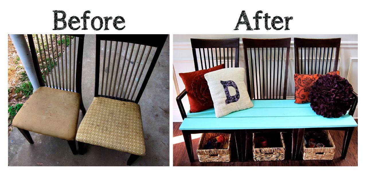20+ Creative Ideas and DIY Projects to Repurpose Old Furniture --> Repurpose Old Kitchen Chairs