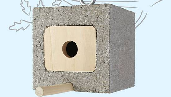 20+ Creative Uses of Concrete Blocks in Your Home and Garden --> Cinder Block Birdhouse