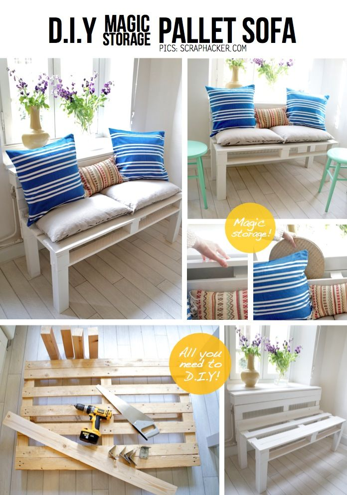 16 Creative And Functional Diy Pallet Furniture Ideas Projects