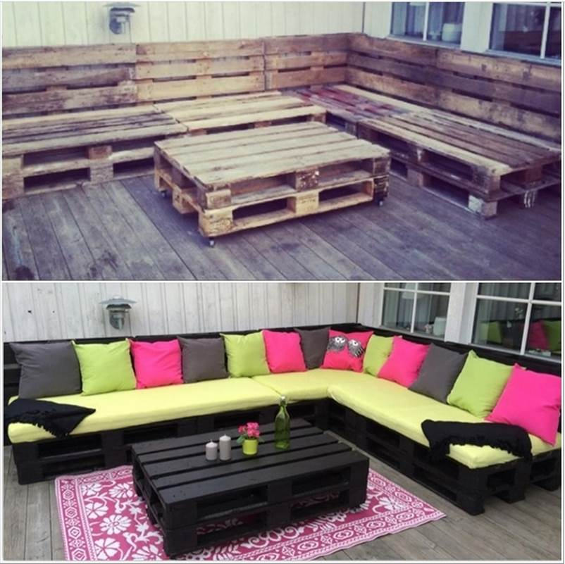 30+ Creative Pallet Furniture DIY Ideas and Projects --> DIY Amazing Outdoor Pallet Lounge