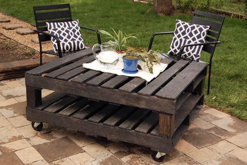 30+ Creative Pallet Furniture DIY Ideas and Projects --> DIY Outdoor Pallet Table