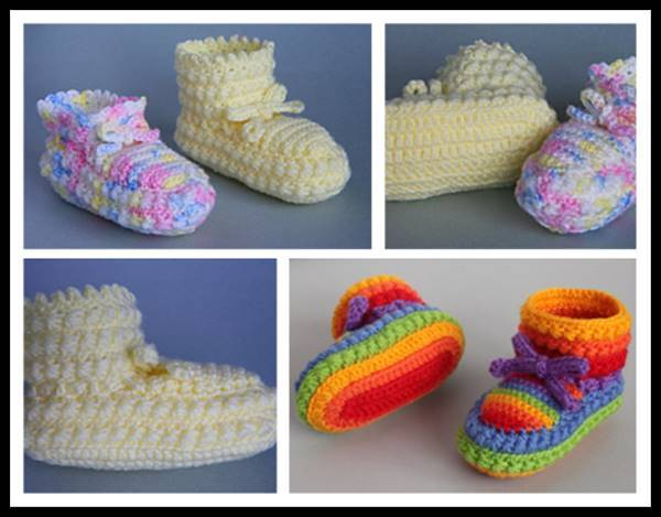 40+ Adorable and FREE Crochet Baby Booties Patterns --> Daisy Stitch Crochet Booties