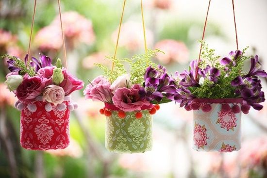 40+ Creative DIY Garden Containers and Planters from Recycled Materials --> DIY Pretty Hanging Vases From Plastic Bottles