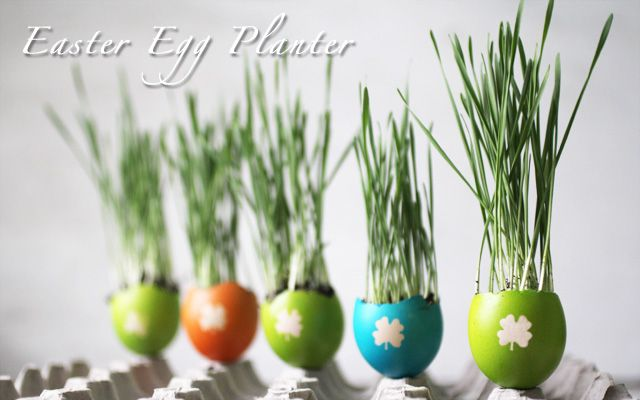 40+ Creative DIY Garden Containers and Planters from Recycled Materials --> DIY Easter Egg Planters