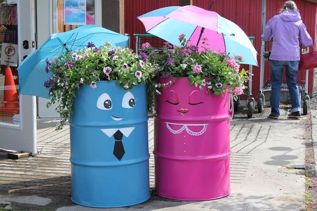 40+ Creative DIY Garden Containers and Planters from Recycled Materials -->  DIY Kerosene