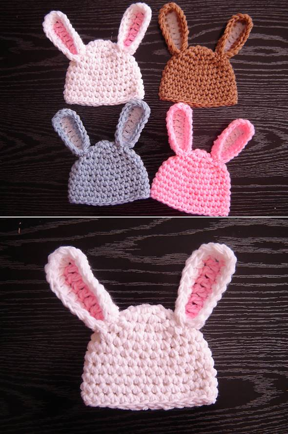 Adorable Crochet Bunny Hat FREE Pattern