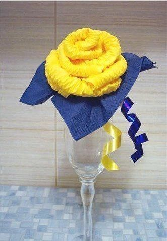 Creative Ideas - DIY Easy Napkin Paper Rose 9